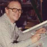 Don Edrington at the Drawing Board