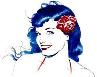 Bettie Page smile - sketch