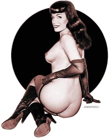 Bettie Page — spiked heel leather boots