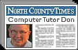 Don Edrington - PC Columnist for The Californian & San Diego's North County Times - Specializing in Help to Seniors Who Are New to Computers