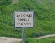 No Bicycle Riding