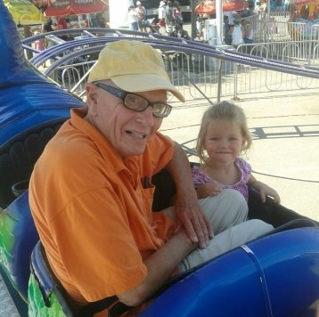 Peyton & Gramps - another carnival ride
