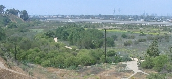 View from Costa Mesa overlooking the Santa Ana River